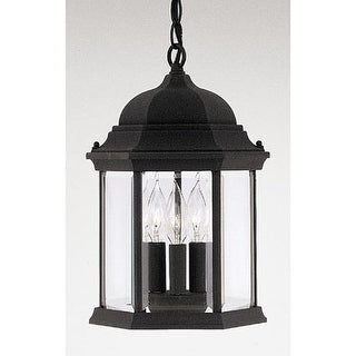 "Designers Fountain 2984-BK 3 Light 9.5"" Cast Aluminum Hanging Lantern from the D"