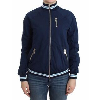 Galliano Blue zip cotton cardigan