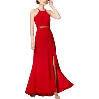 NW Nightway Womens Evening Dress Beaded Full-Length
