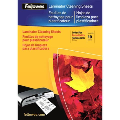 Fellowes Inc. 5320603 Fellowes Laminator Cleaning Sheets 10pk - 10 / Pack