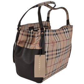 NEW Burberry Coated Canvas Nova Check Haymarket Canterbury Purse Tote