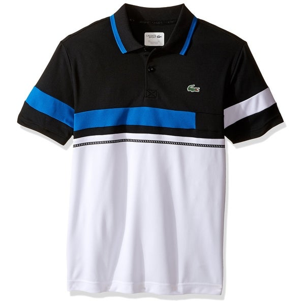 19030567 Shop Lacoste NEW White Mens Size 3XL Colorblock Athletic Tennis Polo Shirt  - Free Shipping Today - Overstock - 19862909