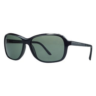 Porsche P8558-A Black Rectangular Sunglasses - 59-15-130