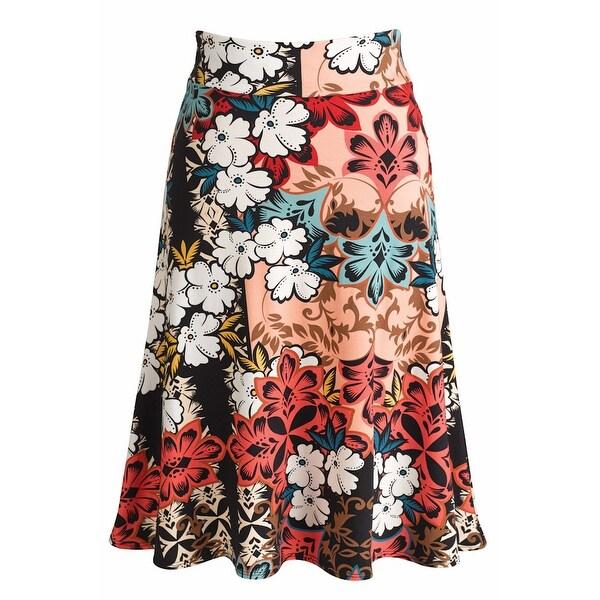 Women's Angela Skirt - Floral Printed A-Line Midi Skirt