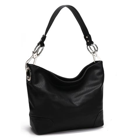 MKF Collection Emily Soft Vegan Leather Hobo Handbag by Mia K.