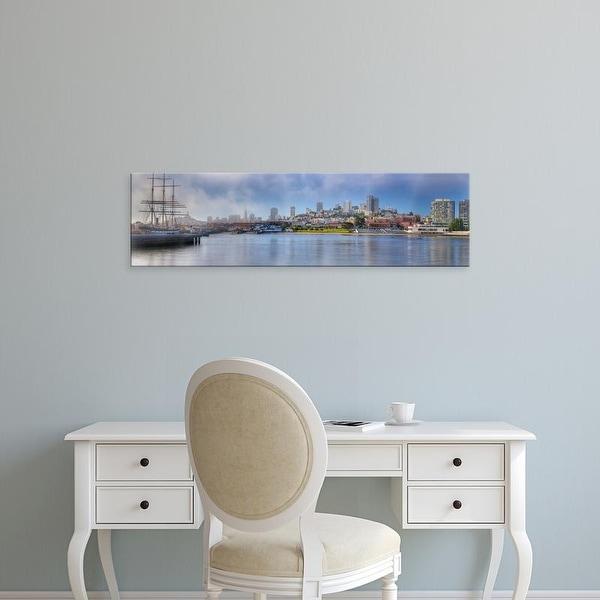 Easy Art Prints Panoramic Images's 'Buildings at waterfront, Fisherman's Wharf, San Francisco, California' Canvas Art