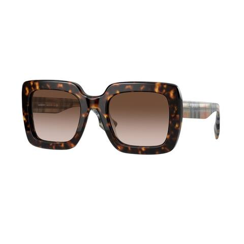 Burberry BE4284F 390313 52 Dark Havana Woman Square Sunglasses