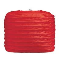 """Club Pack of 24 Red Square Paper Lantern Hanging Party Decorations 8"""""""