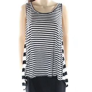 Le Lis NEW Black White Women's Size Small S Tank Cami Striped Blouse