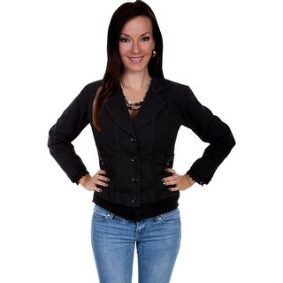 Scully Jacket Womens Long Sleeve Floral Design Crochet PSL-192