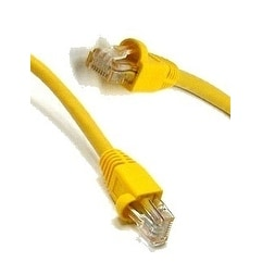 Cat5e 350Mhz Molded Ethernet Cable, Yellow, 25 ft.