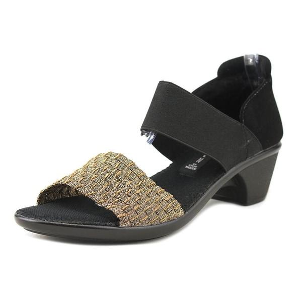 Steve Madden Lisel Women Open Toe Synthetic Bronze Sandals