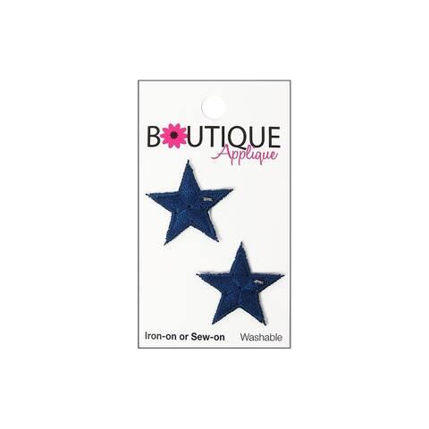 Blumenthal Boutique Applique Blue Stars 2pc