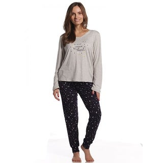 Body Touch Women's Super Soft Sleep Stars Pajama Set - Plus Size