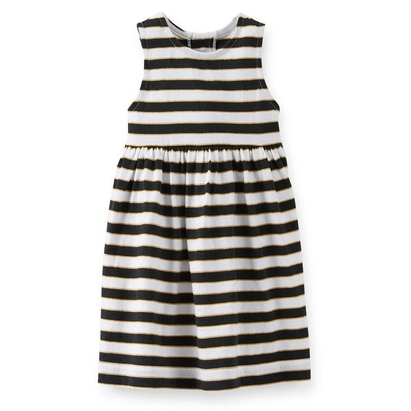 cb350df9ecd Shop Carter s Baby Girls  Striped Dress Black Gold - 3 Months - Free  Shipping On Orders Over  45 - Overstock - 18303639