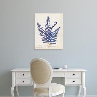 Easy Art Prints Wild Apple's 'Botanical Fern IV Blue' Premium Canvas Art