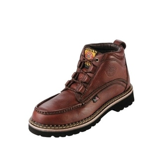 Justin Work Boots Mens Safety Steel Toe Lace Up Chukka Rust WK900