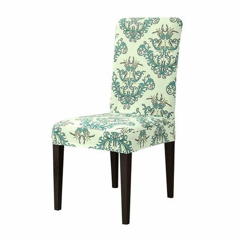Subrtex Stretch Vector Floral Dining Chair Slipcover