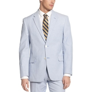 Tommy Hilfiger Polk Pincord Sportcoat 42 Long 42L Blue and White Cotton