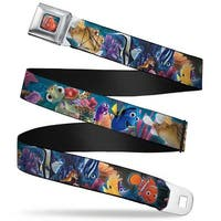 Nemo Smiling Full Color Nemo & Friends Group Webbing Seatbelt Belt Fashion Seatbelt Belt Standard