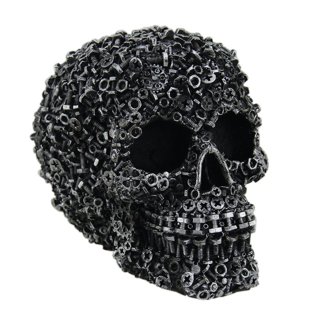 Junk Pile Nuts Bolts Covered Skull
