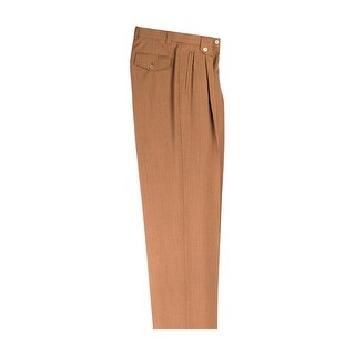 Dark Goldenrod Wide Leg Pure Wool Dress Pants by Tiglio Luxe