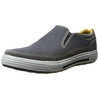 Skechers USA Men's Porter Compen Slip-on Loafer, Navy/Gray