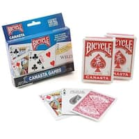 Brybelly GUSP-1026 Bicycle Canasta Playing Cards Set, 6 Decks