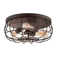 Millennium Lighting 5323 Neo-Industrial 3 Light Flush Mount Ceiling Fixture