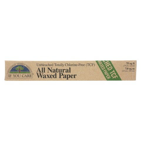 If You Care Waxed Paper - Natural - Case of 12 - 75 sq. ft.