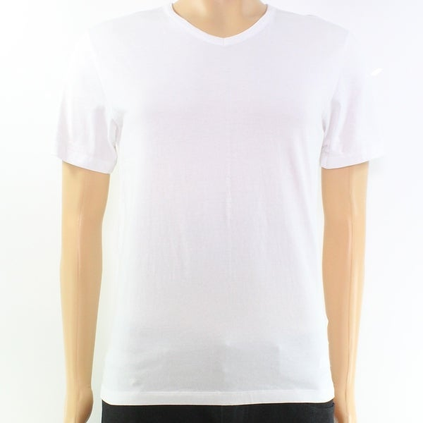 4ef86482ae3c Shop Hugo Boss White V-Neck Mens Size Small S Solid Tee Knit T-Shirt - On  Sale - Free Shipping On Orders Over $45 - Overstock - 27287908