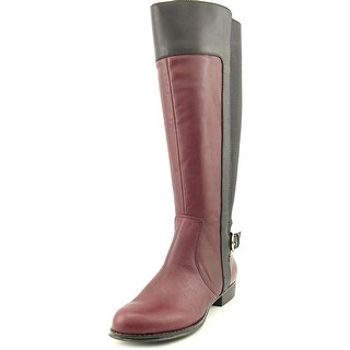Isaac Mizrahi Toby Wide calf Women Round Toe Leather Knee High Boot