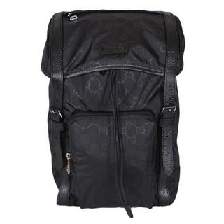 Gucci 510336 Large Black Nylon GG Guccissima Backpack Rucksack Travel Bag
