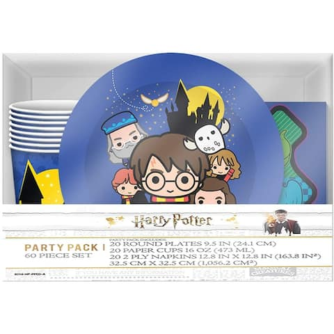 Harry Potter & Friends Chibi Styling 60 Piece Party Tableware Set