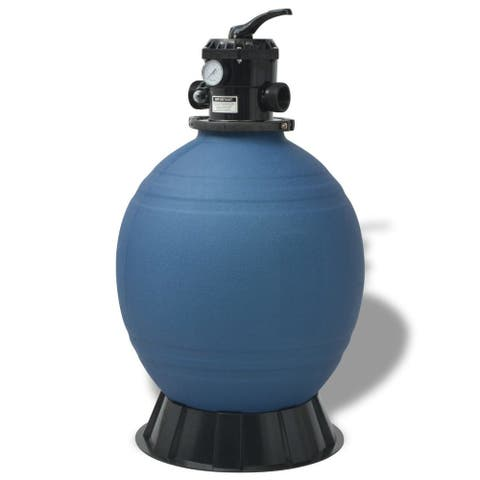 vidaXL Pool Sand Filter 22 inch Round Blue