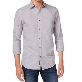 Michael Kors NEW Gray Mens Size XL Tailored Fit Plaid Button Down Shirt