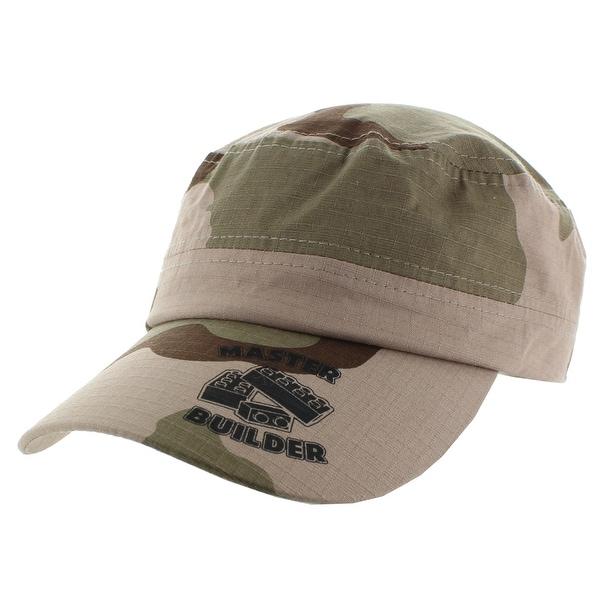 9e0d4f1861e Shop Master Builder Green Camo Military Cap - Free Shipping On ...
