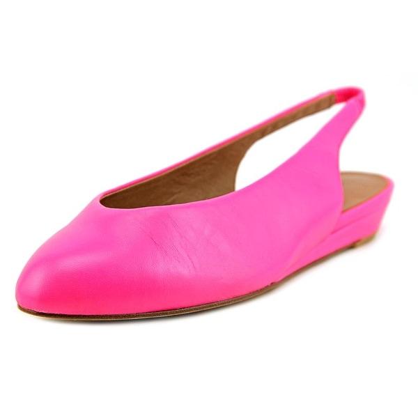 Nina Juniper Women Pointed Toe Leather Pink Flats