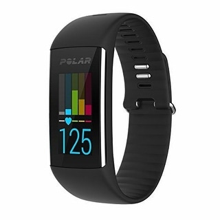 Polar A360 HEART RATE MONITOR, Medium Size Wrist Based FITNESS WATCH, Black
