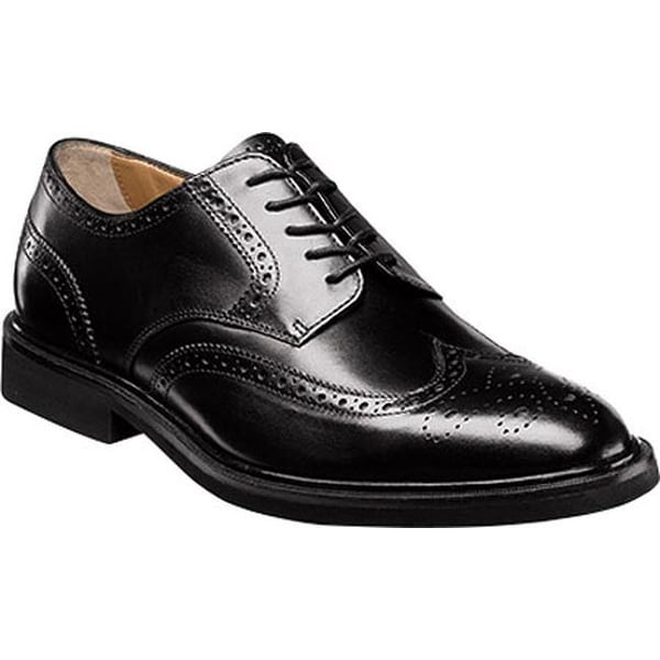 b8a89d53fa5 Shop Florsheim Men s Hamilton Wingtip Oxford Black Smooth Leather - On Sale  - Free Shipping Today - Overstock - 11999659