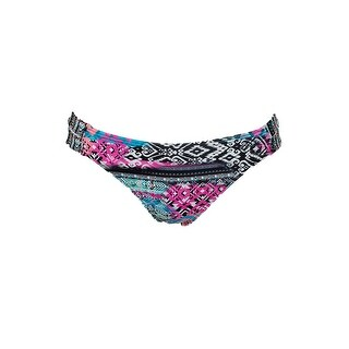 Sundazed Black Multi Tribal Print Sasha Strappy Bikini Bottom S