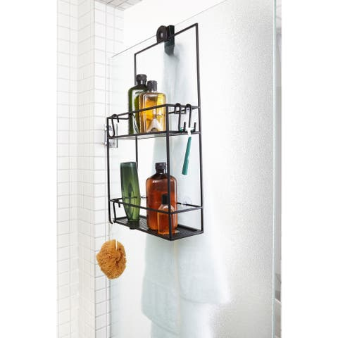 "Umbra 023461 Cubiko 24"" Tall Steel Shower Caddy with Two Shelves by - Black"