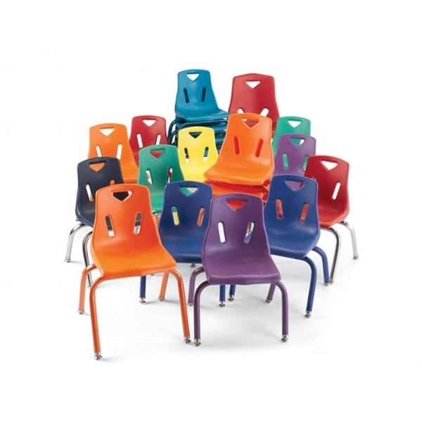 Merveilleux Berries Berries Plastic Chair With Powder Coated Legs  10 Inch Ht