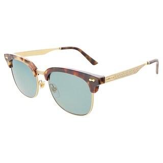 Gucci GG2273S RJQ-5L Havana/Gold Clubmaster Oval Sunglasses Sunglasses