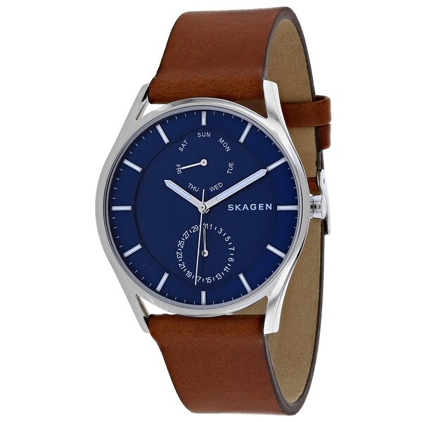 023b2a2e3 Shop Skagen Men's Holst Blue Dial Watch - Free Shipping Today - Overstock -  25751479