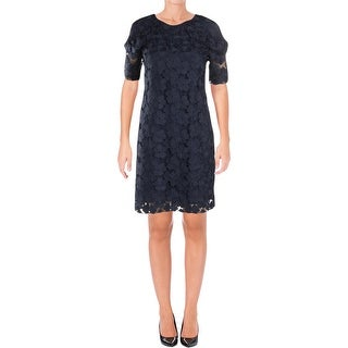 Juicy Couture Black Label Womens Cocktail Dress Floral Lace