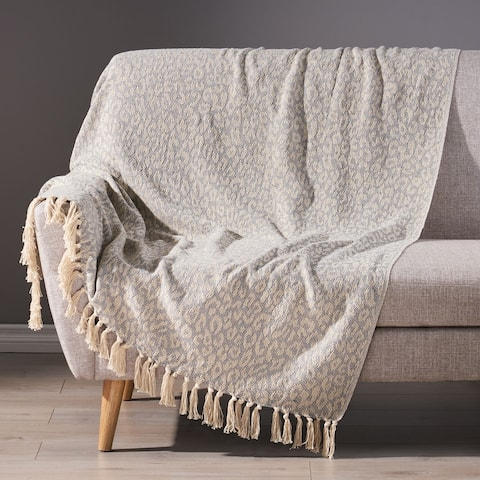 Fulham Boho Handcrafted Cotton Throw Blanket by Christopher Knight Home