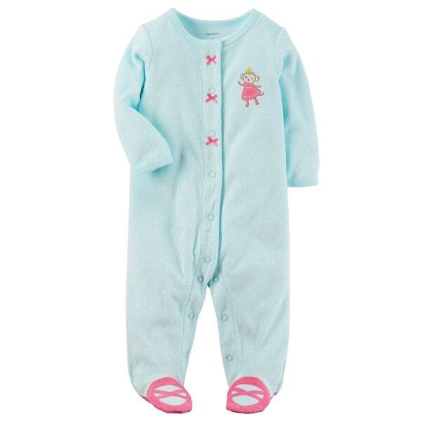 80403e979 Shop Carter s Baby Girls  Monkey Snap-Up Terry Sleep   Play