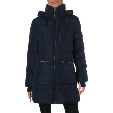 Guess Womens Puffer Coat Winter Hooded