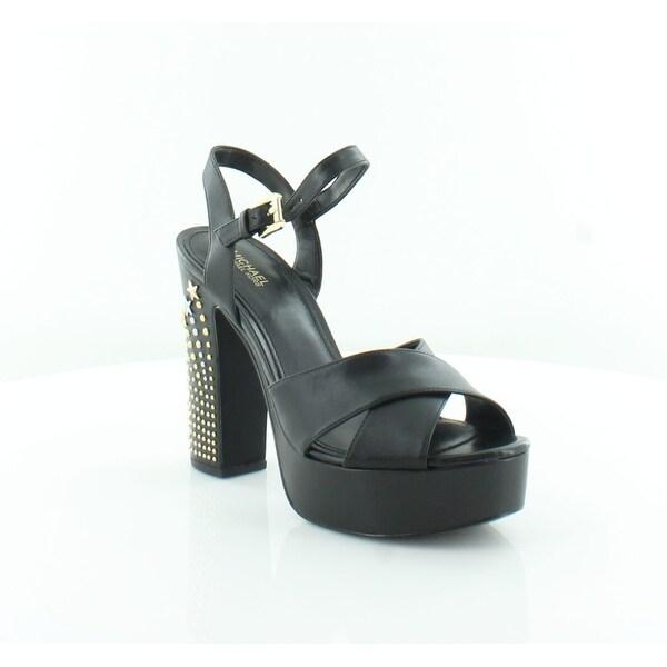 df52dcf29b Shop Michael Kors Sia Platform Women's Sandals Black - Free Shipping ...